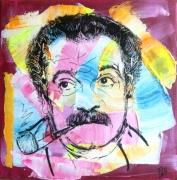 tableau : georges-brassens-abstrait-portrait-dessin-tableau_acrylique__enc