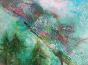 tableau paysages artgrandest symbolisme peinturesplombiereslesbains coriandrepaintings : Un parfum bucolique