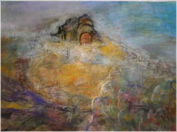 TABLEAU PEINTURE peinture symbolique landscapes paintings grand est peinture Paysages Pastel  - Curiosité
