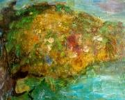 tableau paysages arbre en fleur artcontemporain ecologie : Bain de lumière