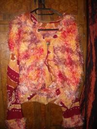 Veste tricotée à capuche
