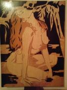 bois marqueterie nus nu feminin : Nu féminin 2