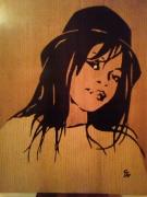 bois marqueterie personnages visage feminin malagasy : Visage de Madagascar