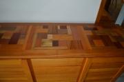 bois marqueterie autres enfilade bilinga plateau patchwork : Enfilade