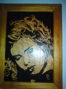 bois marqueterie personnages you came : Kim Wilde