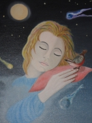 tableau personnages reve visage nuit sommeil : Rêve