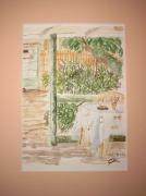 tableau paysages vacances repos detente soleil : vacances à Antibes