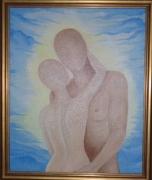 tableau personnages amour amoureux nus couple : PASSION