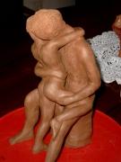 sculpture : couple amoureux