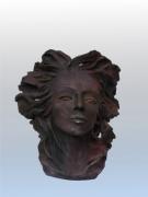 sculpture personnages tËte portrait ceramique modelage : HIVERS