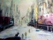 tableau paysages apocalypse ville paysage urbain peinture : DESOLE