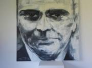 """tableau personnages portrait noir et blanc homme femme : André , Comte d""""Estampe"""