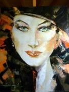 tableau personnages portrait jura saone et loire femme : AVA