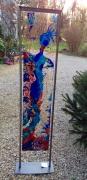 sculpture personnages design vitrail couleurs quotidien : Elégance de carnaval