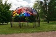 sculpture autres emailvitrail plexiglas jardin accueil : Le Dôme de la danse des couleurs