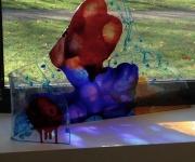 sculpture abstrait design vitrail couleurs quotidien : vue de dos