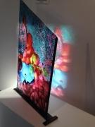 sculpture abstrait design vitrail couleurs quotidien : Composition pourpre et bleue