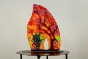 sculpture abstrait emailvitrail maison mystere chaleur : La porte du mystère