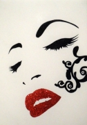 tableau personnages pop art : SENSUALITE FEMININE...