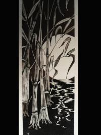 Bambous au clair de lune