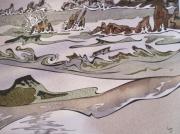 tableau marine bretagne mer vagues sable : Les vagues
