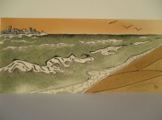 tableau marine bretagne mer vagues art : Cote d'Emeraude