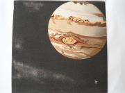 tableau autres planete art sable jupiter : Jupiter
