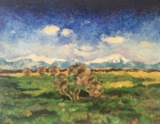 tableau paysages kabylie melancolie olivier impressionnisme : paysage hivernal