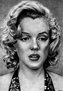 dessin personnages icone de cinema pointillisme : marilyn monroe 2