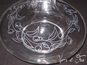 ceramique verre fruits caraffe decanter degustation vin verre cristallin : Caraffe aDecanter