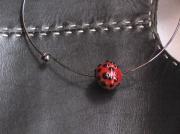 bijoux abstrait beads lampwork perles verre chalumeau : Tour de Cou