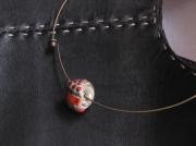bijoux marine beads lampwork perles verre chalumeaux : Tour de Cou