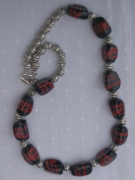 bijoux abstrait perles verre : Collier