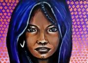 tableau personnages touareg femme mali afrique : femme touareg