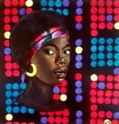tableau personnages femme afrique wax disco : Discowax