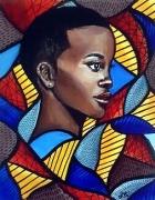 tableau personnages femme celebrite afrique wax : Elégance