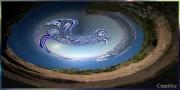 tableau abstrait tableau artistique decoratof contemporain sous verre acrylique : Lagon enchanté