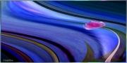 tableau abstrait tableau artistique decratif contemporain sous verre acrylique : Les bleus de l'océan