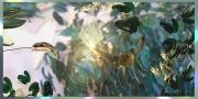 tableau fleurs tableau artistique d : Feuillage d'or