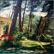 tableau paysages tanelau artistique decoratif sous verre acrylique contemporain : Provençal garden