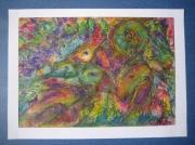 tableau abstrait : série PASTEL à l'huile N° 2