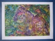 tableau abstrait : série PASTEL à l'huile N° 3
