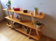 deco design autres etagere bois design meuble : Étagère épurée.