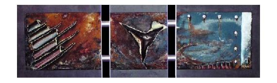 TABLEAU PEINTURE art acrylique moderne abstrait Abstrait  - inside job