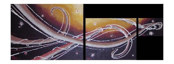 TABLEAU PEINTURE art acrylique abstrait moderne Abstrait  - tentacules