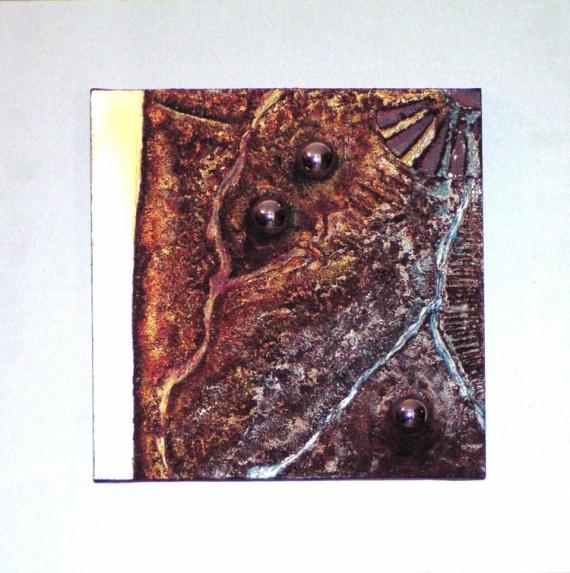 TABLEAU PEINTURE art acrylique abstrait moderne Abstrait  - boule de glace/boule de feu