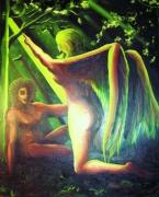 tableau personnages art huile personnage moderne : Angel