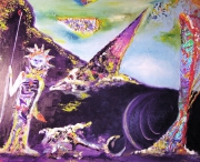 tableau personnages art huile personnage moderne : Gardien
