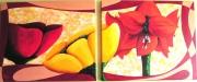 tableau fleurs art acrylique fleur moderne : Flowers