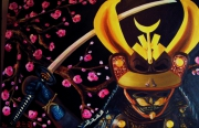 tableau personnages art huile portait moderne : samourai